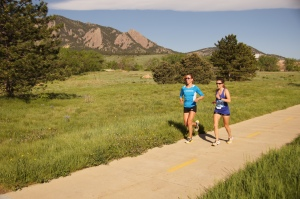 2013 BOLDER Boulder cool-down with Sherman Performance teammate, Tasha Wheatly!