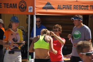 Receiving my 1st place award!  What a great race!