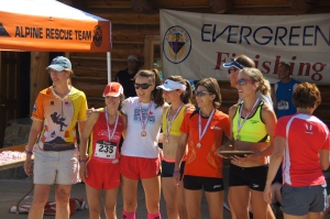 Awards ceremony at the 2013 Colorado 10k Champs!  A great group of ladies!