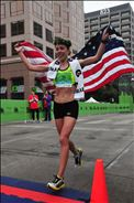 Celebrating my win at the Austin Half Marathon February 16th, 2014!
