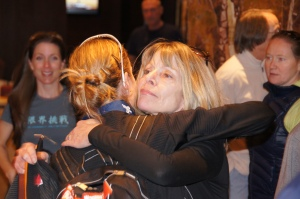 Hugging my mom after the 2012 Olympic Marathon Trials.  She's ALWAYS there for me...